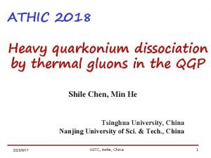 ATHIC 2018 Heavy quarkonium dissociation by thermal gluons