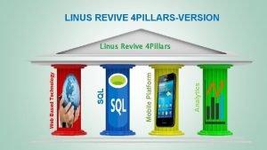 LINUS REVIVE 4 PILLARSVERSION Analytics Mobile Platform SQL