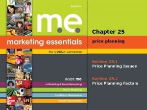 Chapter 25 price planning Section 25 1 Price