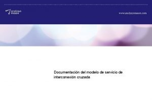 Documentacin del modelo de servicio de interconexin cruzada