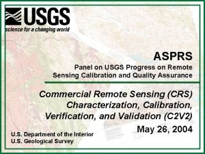 ASPRS Panel on USGS Progress on Remote Sensing