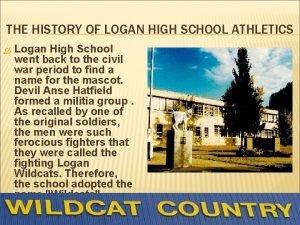 THE HISTORY OF LOGAN HIGH SCHOOL ATHLETICS Logan