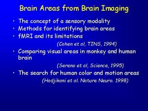 Brain Areas from Brain Imaging The concept of