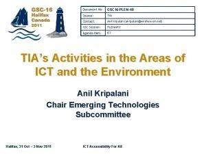 Document No GSC 16 PLEN48 Source TIA Contact