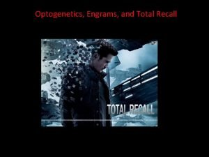 Optogenetics Engrams and Total Recall http www wingclips