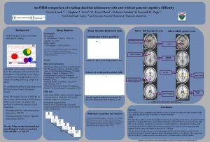 An f MRI comparison of reading disabled adolescents