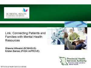 Link Connecting Patients and Families with Mental Health