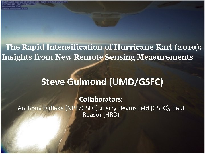 The Rapid Intensification of Hurricane Karl 2010 Insights