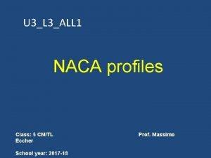 U 3L 3ALL 1 NACA profiles Class 5