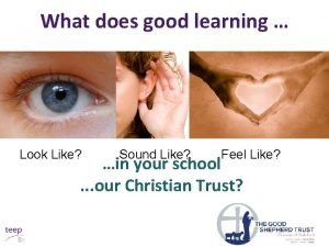 What does good learning Look Like Sound Like