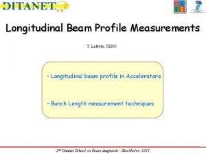 Longitudinal Beam Profile Measurements T Lefevre CERN Longitudinal
