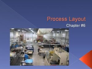 Process Layout Chapter 6 Process Layout Process layout