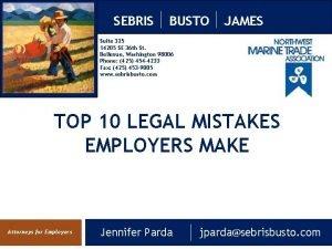 SEBRIS BUSTO JAMES Suite 325 14205 SE 36
