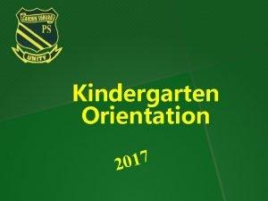 Kindergarten Orientation 7 1 0 2 Welcome to