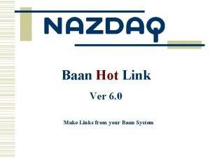 Baan Hot Link Ver 6 0 Make Links