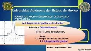 Universidad Autnoma del Estado de Mxico PLANTEL LIC