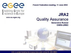 French Federation meeting 11 June 2004 www euegee