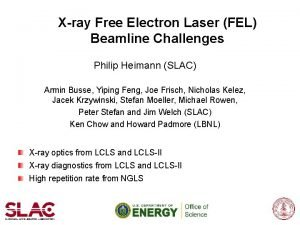Xray Free Electron Laser FEL Beamline Challenges Philip