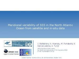 Meridional variability of SSS in the North Atlantic