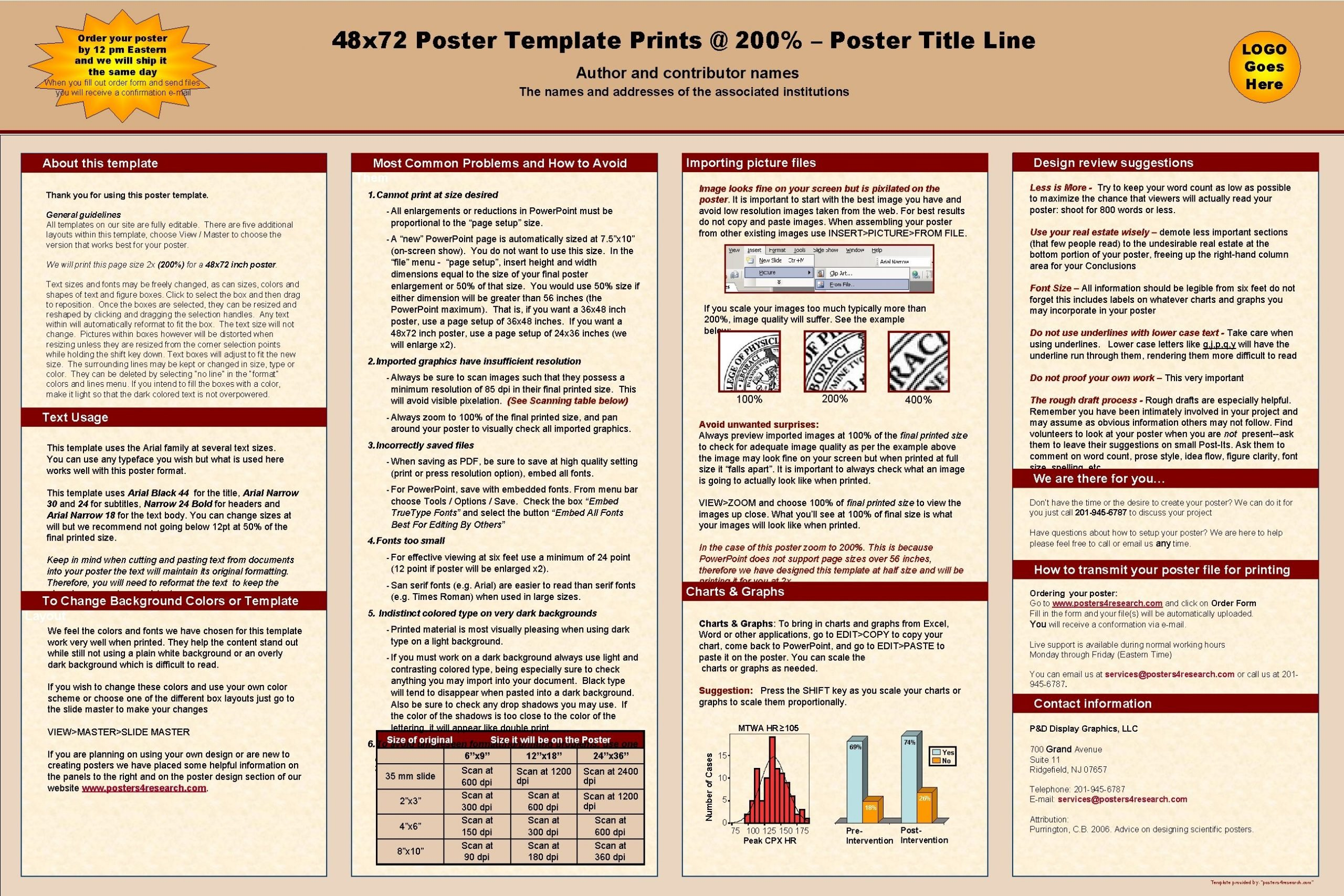 48 x 72 Poster Template Prints 200 Poster