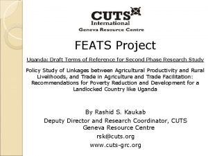 FEATS Project Uganda Draft Terms of Reference for