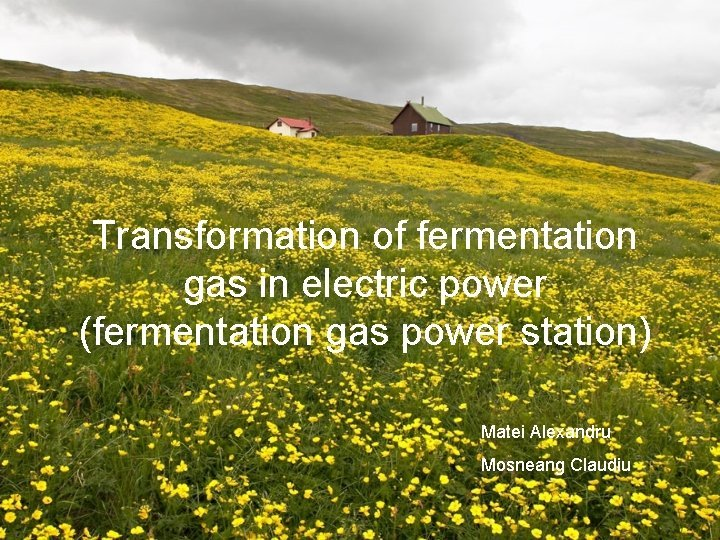 Transformation of fermentation gas in electric power fermentation