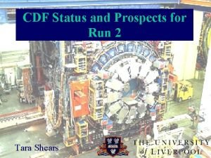 CDF Status and Prospects for Run 2 Tara