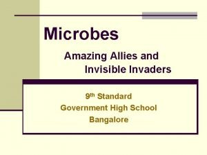 Microbes Amazing Allies and Invisible Invaders 9 th