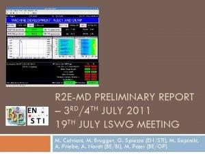 R 2 EMD PRELIMINARY REPORT 3 RD4 TH