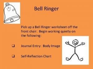 Bell Ringer Pick up a Bell Ringer worksheet