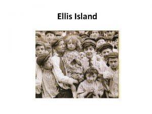 Ellis Island Ellis Island New York City NY