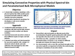 Simulating Convective Properties with Physical Spectralbin and Parameterized