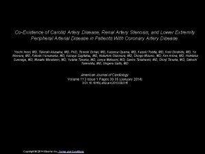CoExistence of Carotid Artery Disease Renal Artery Stenosis