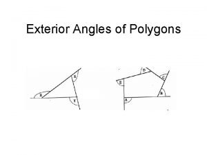 Exterior Angles of Polygons Exterior Angles of Polygons