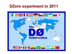 DZero experiment in 2011 Tevatron achievements 1985 2011