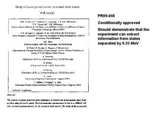 PR 89 046 Conditionally approved Should demonstrate that