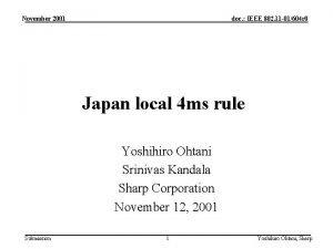 November 2001 doc IEEE 802 11 01604 r
