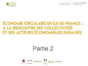 Partie 2 Economie circulaire et territoires quelles synergies