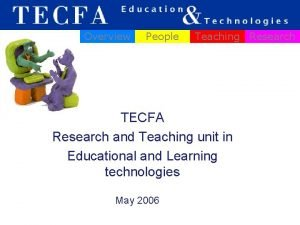 Overview People Teaching Research TECFA Research and Teaching