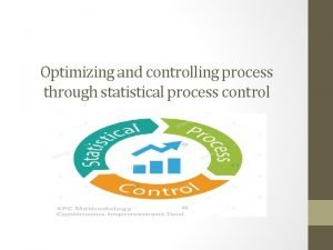 Optimizing and controlling process through statistical process control