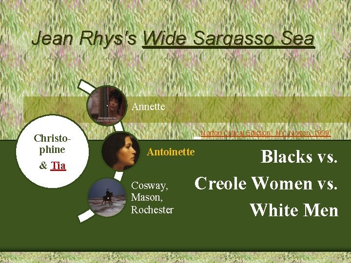 Jean Rhyss Wide Sargasso Sea Annette Christophine Tia