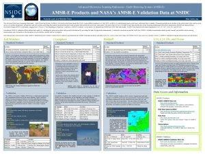 Advanced Microwave Scanning Radiometer Earth Observing System AMSRE