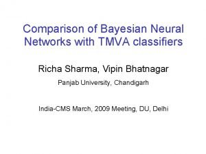 Comparison of Bayesian Neural Networks with TMVA classifiers