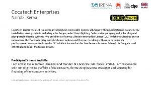 Cocatech Enterprises Nairobi Kenya Cocatech Enterprises Ltd Is