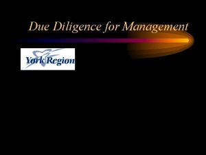 Due Diligence for Management Facts and Figures in