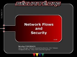 Swi NOGX Network Flows and Security v 1