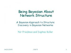 Being Bayesian About Network Structure A Bayesian Approach