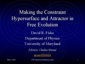Making the Constraint Hypersurface and Attractor in Free