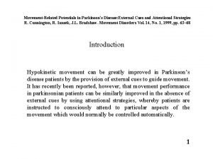 MovementRelated Potentials in Parkinsons Disease External Cues and