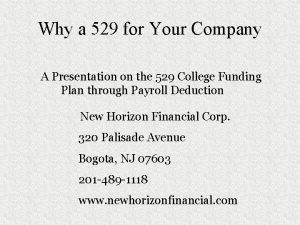 Why a 529 for Your Company A Presentation